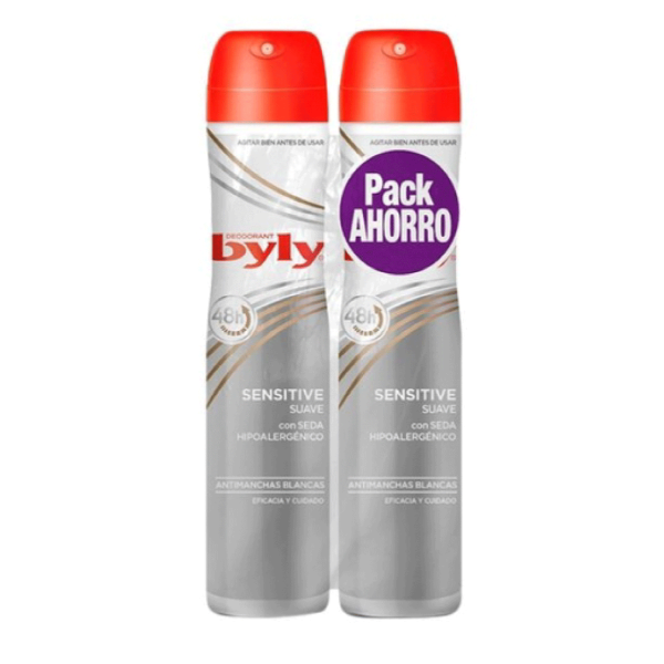 Byly desodorante Sensitive Pack Ahorro 200 ml + 200 ml