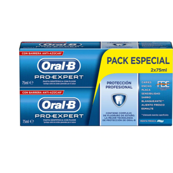 Oral-B dentífrico Pro-Expert 2 x 75 ml PACK AHORRO